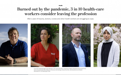 Washington Post: Burned out by the pandemic, 3 in 10 health-care workers consider leaving the profession